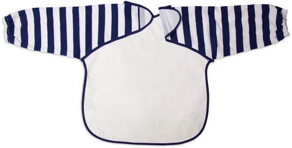 Navy and White Whale Catch of the Day Baby Smock Baby Smock Izzy & Owie - GigglesGear.com