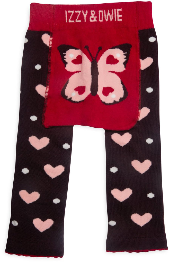 Butterfly Hearts Baby Leggings Baby Leggings Izzy & Owie - GigglesGear.com