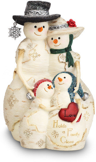 Love Holds a Family Close - Christmas Snowmen Figurine by The Birchhearts - Beloved Gift Shop