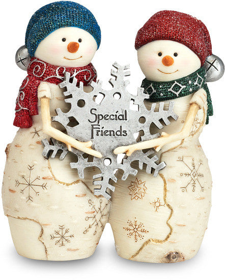Special Friends - Christmas Snowmen Figurine by The Birchhearts - Beloved Gift Shop