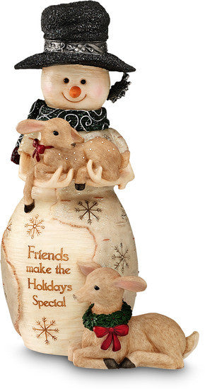 Friends make the Holidays Special Christmas Snowman Figurine by The Birchhearts - Beloved Gift Shop