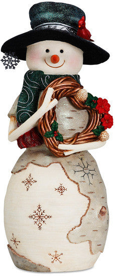 Joy - Large Christmas Snowman Figurine by The Birchhearts - Beloved Gift Shop