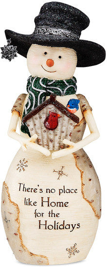 There's no place like Home for the Holidays - Christmas Snowman Figurine by The Birchhearts - Beloved Gift Shop