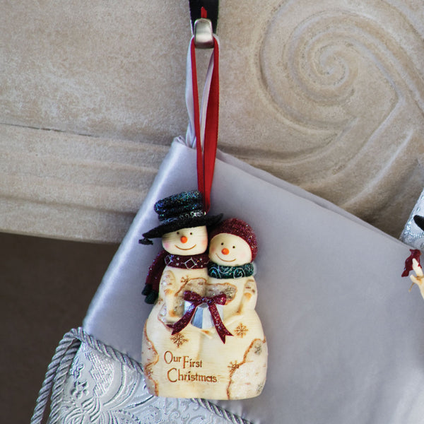 Our First Christmas Snow Couple Ornament Christmas Ornament - Beloved Gift Shop
