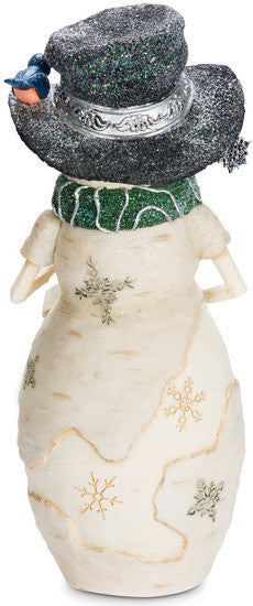 Bless this Home Snowman with Bird and Birdhouse Figurine Snowman Figurine - Beloved Gift Shop