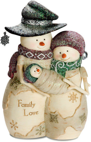 Family Love  - Christmas Snowmen Figurine by The Birchhearts - Beloved Gift Shop