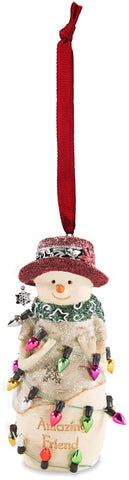 Amazing Friend Snowman Ornament Christmas Tree Ornament - Beloved Gift Shop