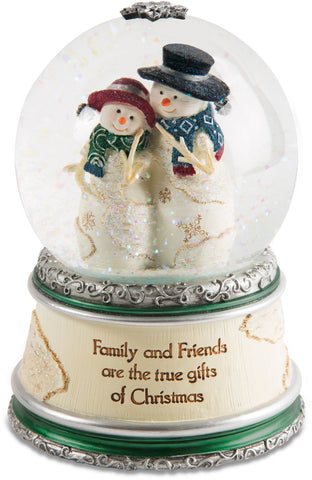 Family and friends are the true gifts of Christmas LED Musical Water Globe Musical Water Globe - Beloved Gift Shop