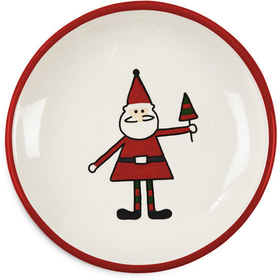 Santa Christmas Plate Round Plate - Beloved Gift Shop