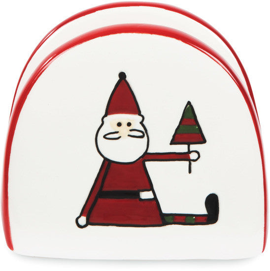 "Santa - 2.75"" Napkin Holder by Holiday Hoopla - Beloved Gift Shop"