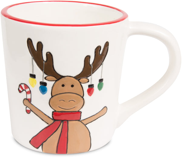 Moose - 12 oz Christmas Mug