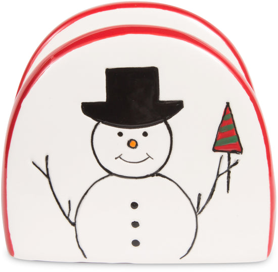 Snowman with Moose Napkin Holder
