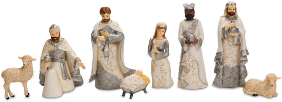 Nativity 8pc Christmas Figurines Set