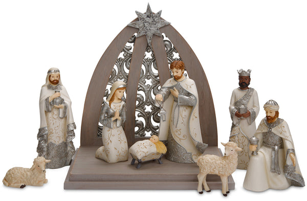Nativity 8pc Christmas Figurines Set Nativity Figurine Set - Beloved Gift Shop