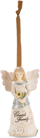 Cherish Family Angel Christmas Tree Ornament by Elements Angels - Beloved Gift Shop