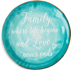 Family where life begins and love never ends Ceramic Plate