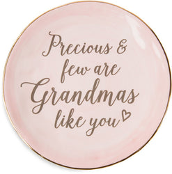 Precious and few are Grandma's like you Ceramic Plate