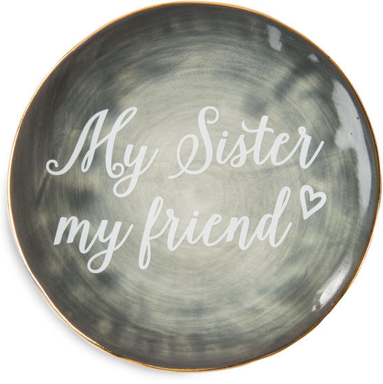 My sister my friend Ceramic Plate Ceramic Plate - Beloved Gift Shop