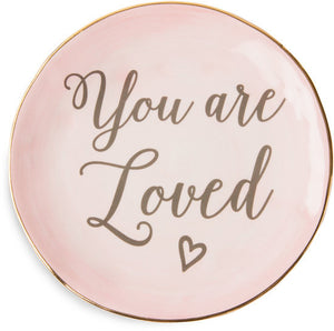 You are loved Ceramic Plate Ceramic Plate - Beloved Gift Shop