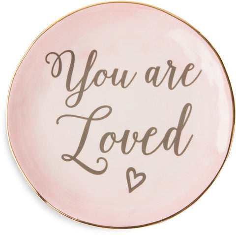 You are loved - Ceramic Plate by Emmaline - Beloved Gift Shop