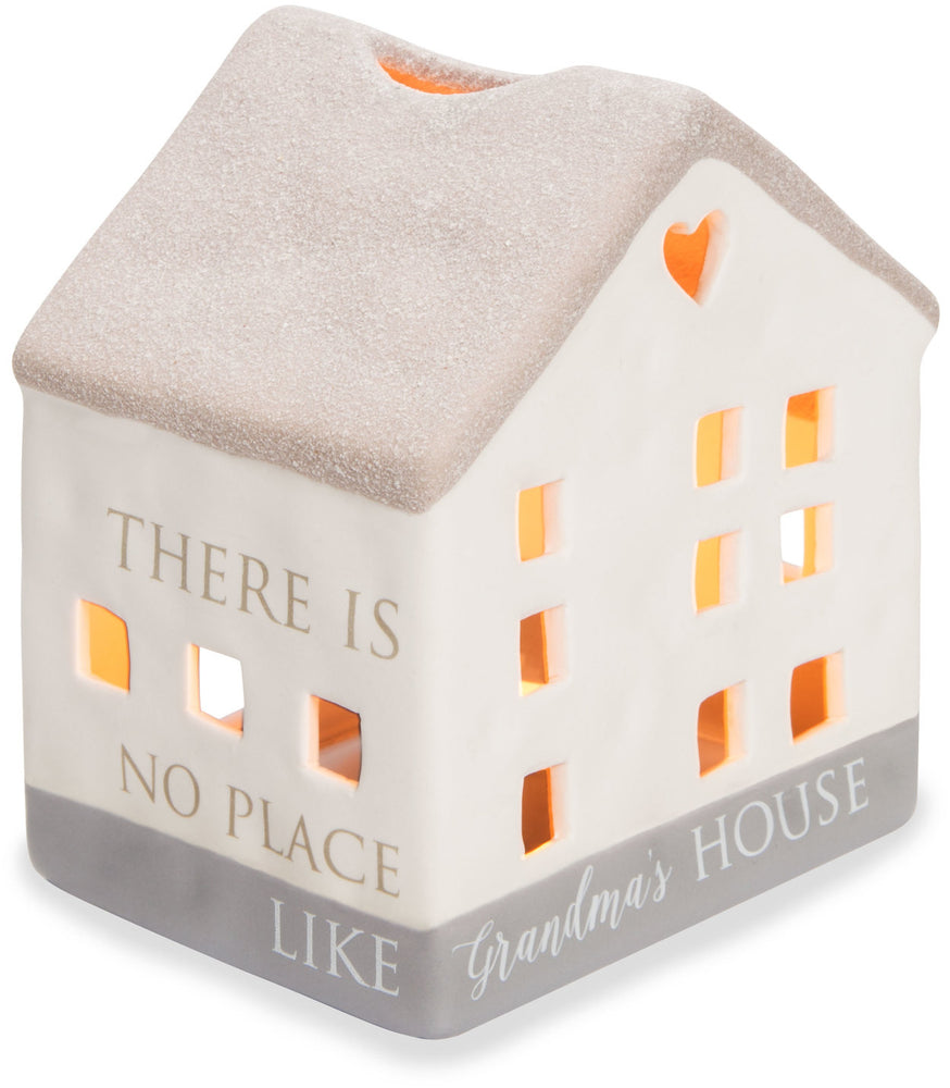 Grandma's House Porcelain House Candler Holder