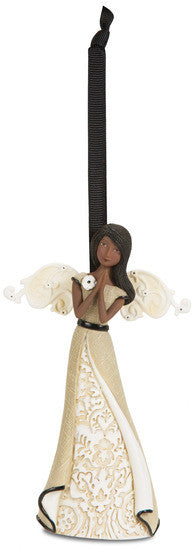 Ebony Angel Praying - Ornament by Modeles - Beloved Gift Shop