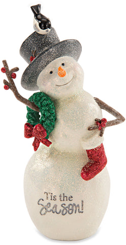 Tis the Season Snowman with Wreath by Berry and Bright - Beloved Gift Shop