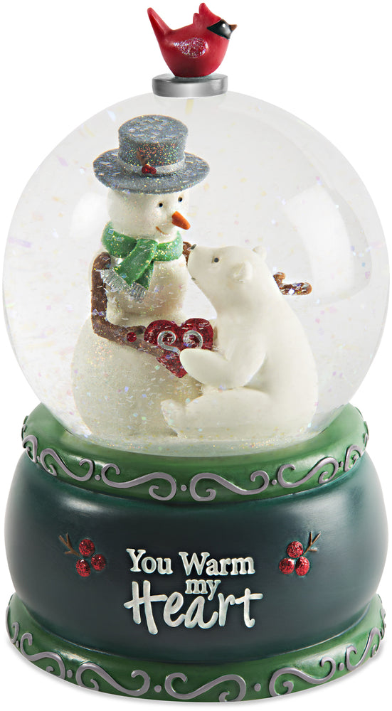 You warm my heart 100mm Musical Water Globe