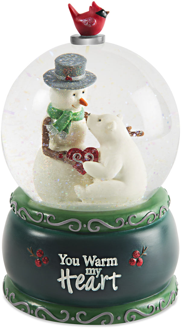 You warm my heart 100mm Musical Water Globe Musical Water Globe - Beloved Gift Shop