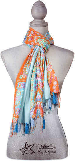 Paisley Blue Scarf Scarf - Beloved Gift Shop