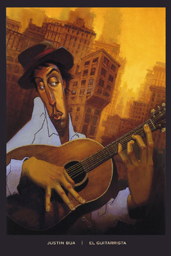 El Guitarrista Justin Bua Art Print Posters & Prints - Beloved Gift Shop
