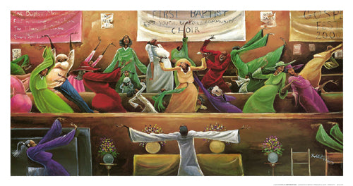 First Baptist Choir Frank Morrison Art Print Posters & Prints - Beloved Gift Shop