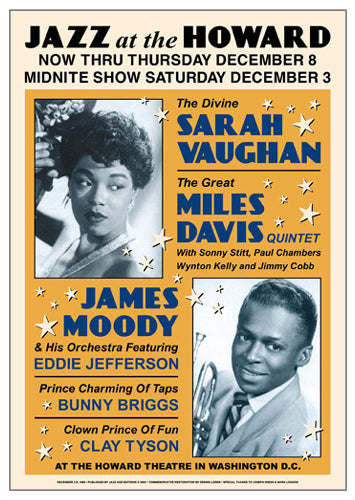 Sarah Vaughan & Miles Davis: Jazz at the Howard 1960 | Unknown