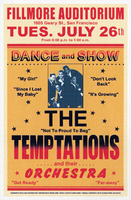 The Temptations Fillmore 1966 | Unknown
