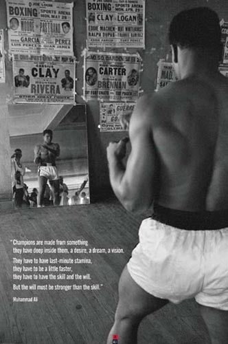 Muhammad Ali in Gym with Mirror Unknown Art Print Posters & Prints - Beloved Gift Shop