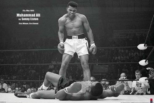 Muhammad Ali vs Sonny Liston (horizontal) Unknown Art Print Posters & Prints - Beloved Gift Shop