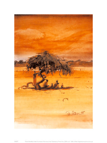 Under The Shade Of The Acacia Tree Patrick Bradfield Art Print Posters & Prints - Beloved Gift Shop