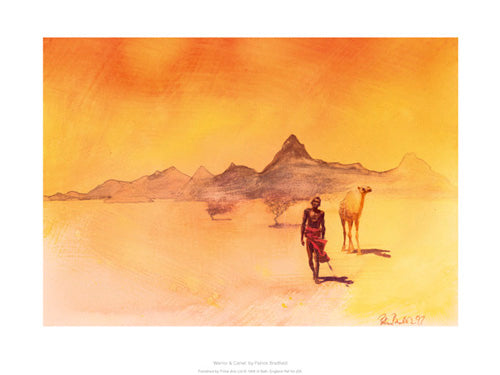 Warrior And Camel  Patrick Bradfield Art Print Posters & Prints - Beloved Gift Shop