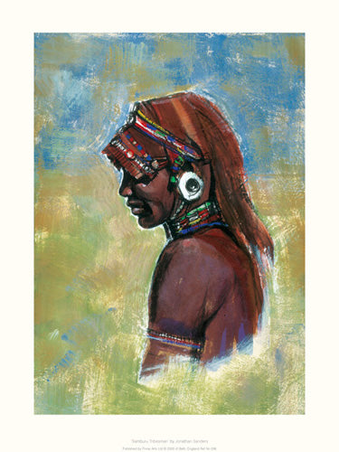 Samburu Tribesman Jonathan Sanders Art Print Posters & Prints - Beloved Gift Shop