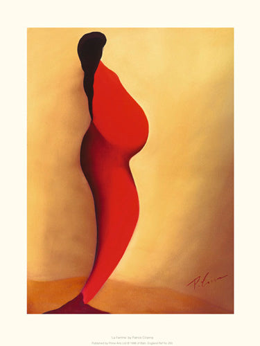 La Femme Enceinte  Patrick Ciranna Art Print Posters & Prints - Beloved Gift Shop