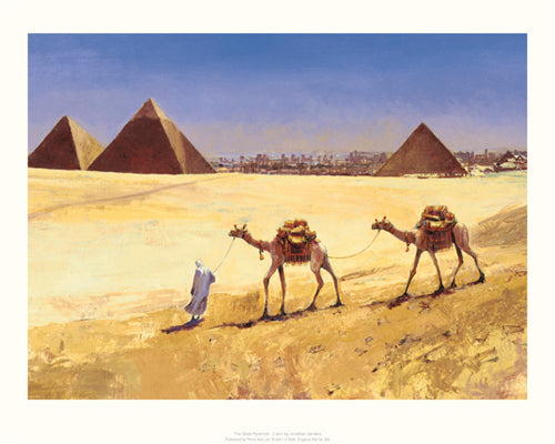 The Great Pyramids - Cairo Jonathan Sanders Art Print Posters & Prints - Beloved Gift Shop