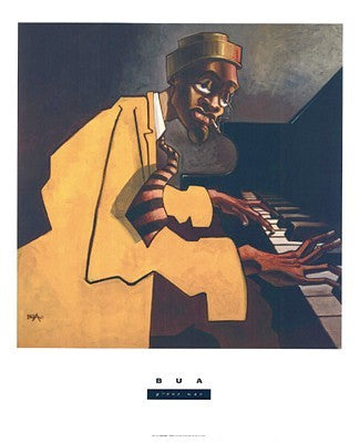 Piano Man Justin Bua Art Print Posters & Prints - Beloved Gift Shop