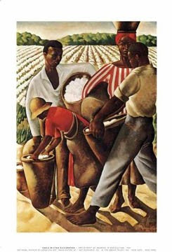 Employment of Negroes in Agriculture 1934 (AKA: Cotton Pickers) Earle Wilton Richardson Art Print Posters & Prints - Beloved Gift Shop