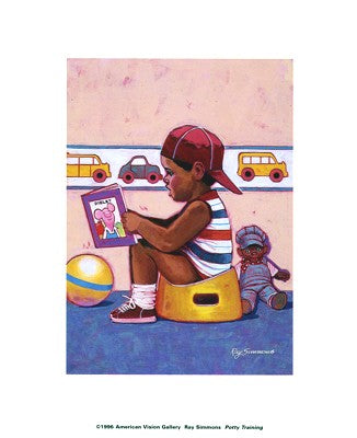 Potty Training Ray Simmons Art Print Posters & Prints - Beloved Gift Shop