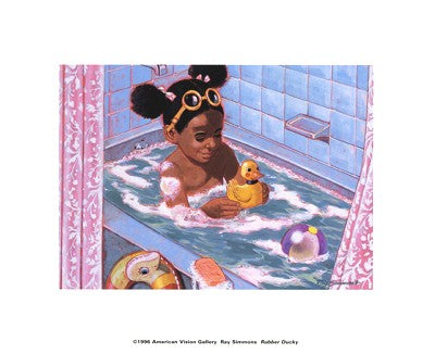 Rubber Ducky Ray Simmons Art Print Posters & Prints - Beloved Gift Shop