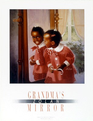 Grandma's Mirror Donald Zolan Art Print Posters & Prints - Beloved Gift Shop
