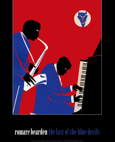 The Last of the Blue Devils Romare Bearden Art Print Posters & Prints - Beloved Gift Shop