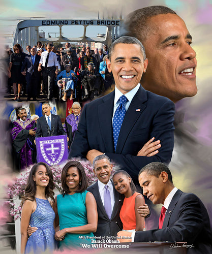 Barack Obama: We Will Overcome Wishum Gregory Art Print Posters & Prints - Beloved Gift Shop