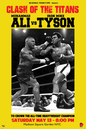 Muhammad Ali vs. Mike Tyson Clash of the Titans Art Print Poster Posters & Prints - Beloved Gift Shop