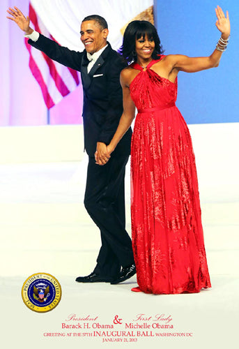 President Barack & First Lady Michelle Obama at 57th Inaugural Ball 2013 Art Print Posters & Prints - Beloved Gift Shop